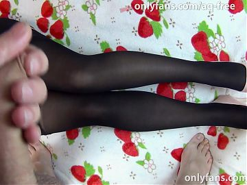 Huge load on dress and pantyhose of sexy whore - Anya Queen